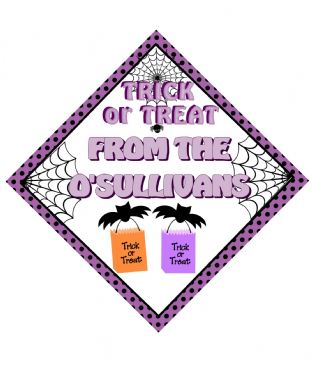 Personalised Halloween Window Sign Design 4